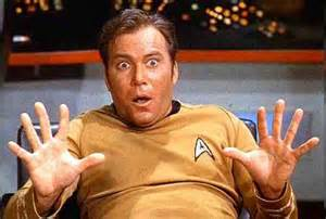 Captain Kirk: Picture of a surprised Captain Kirk