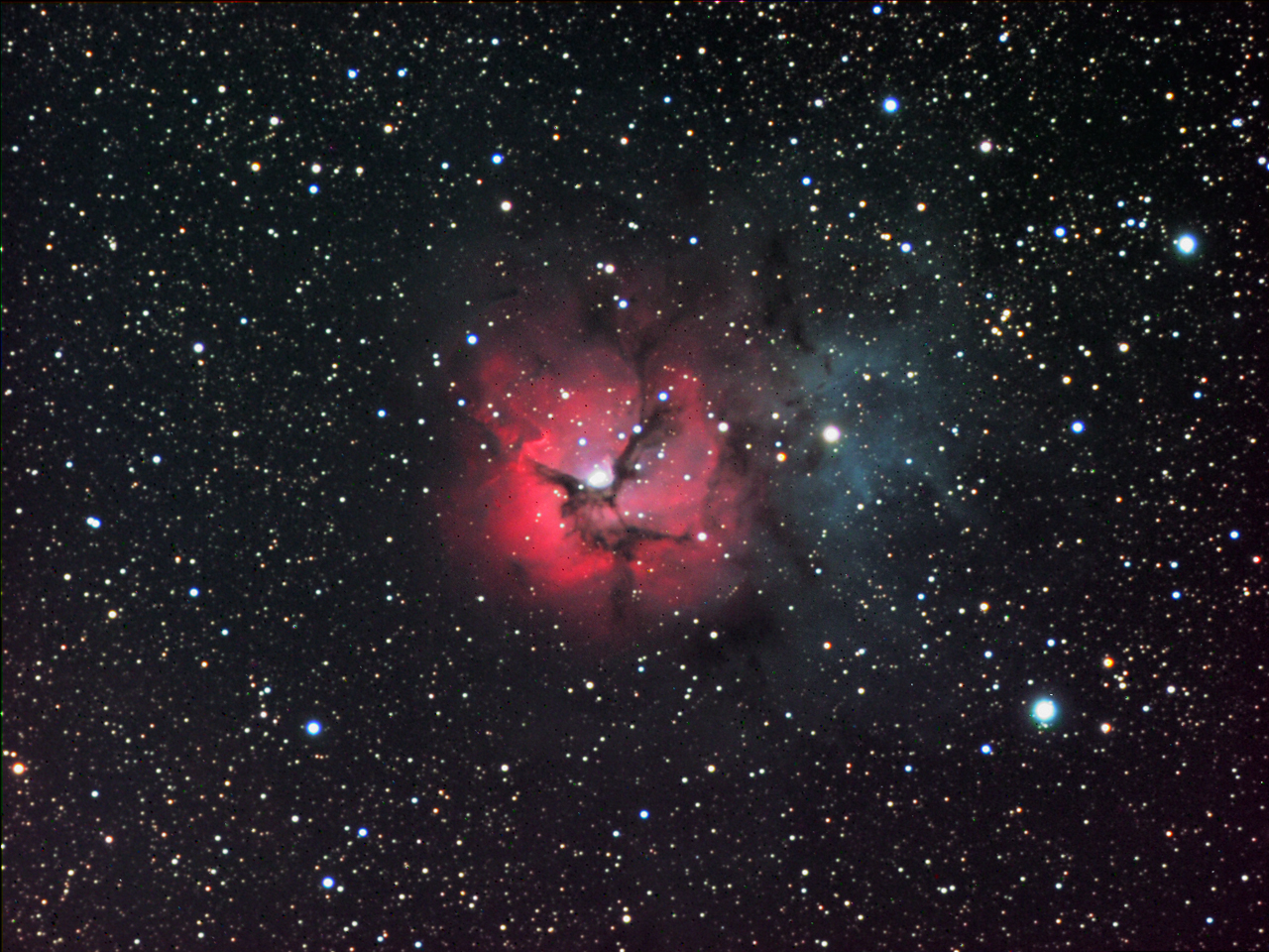 TEC-140: M20--The Trifid Nebula: