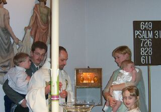 Jasonchristened: Picture of Jason being Christened.